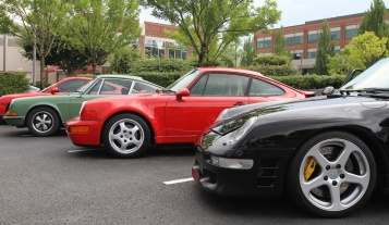 Lovely cars all in a row. More on the RUF later